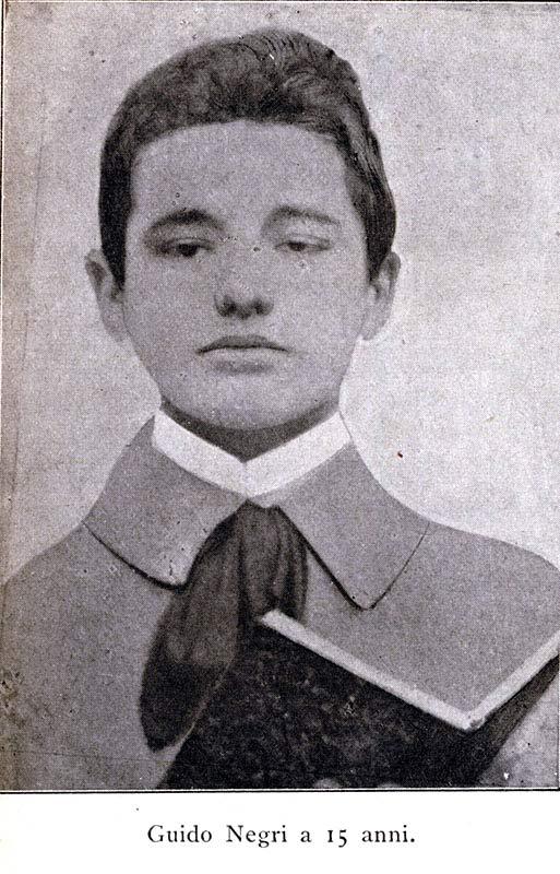 Guido Negri a 15 anni