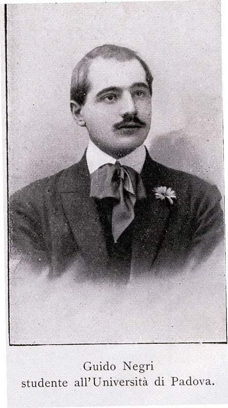 Guido Negri studente all'università di Padova