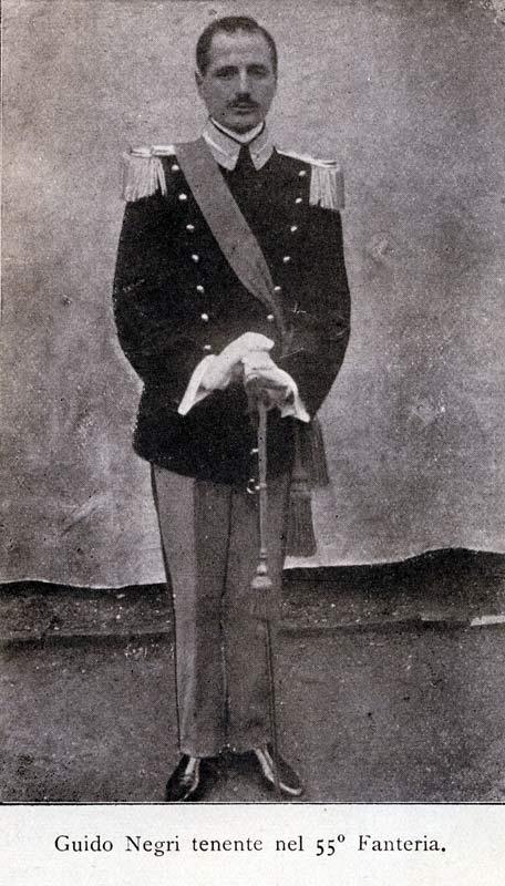 Guido Negri tenente del 55° fanteria