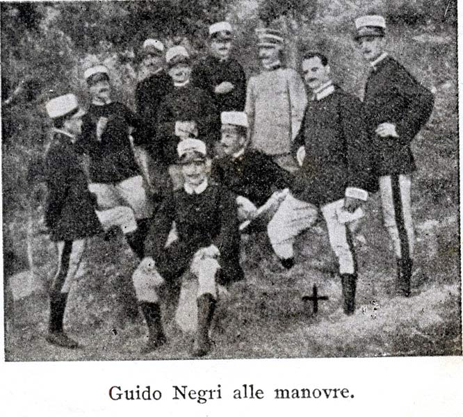 Guido Negri alle manovre