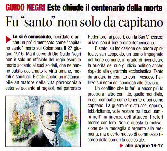 Rassegna Stampa Difesa Del Popolo Guido Negri